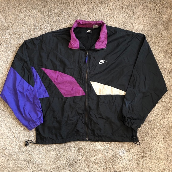 eae985488af22 Vintage 90s Nike Windbreaker Zip Up Jacket